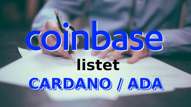 Coinbase listet ADA